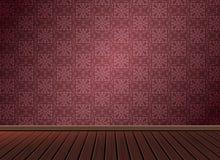 仿造与木地板的背景纹理在葡萄酒样式 免版税库存图片