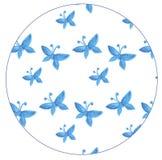 仿造与蓝色蝴蝶水彩 图库摄影