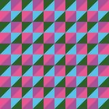 仿造传染媒介无缝的多角形三角绿色桃红色蓝色 免版税库存图片