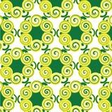 仿造同黄色和绿色花一样 免版税库存照片