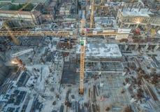 建造场所修造起重机02 库存图片