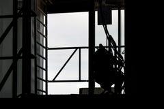 建造场所剪影 免版税图库摄影