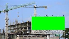 建造场所和大广告牌 影视素材
