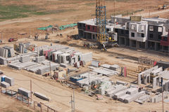 建造场所在新的莫斯科 库存图片