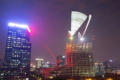 建造场所在晚上 库存图片