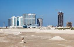 建造场所在阿布扎比 免版税库存图片