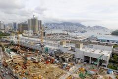 建造场所天线射击 免版税库存照片