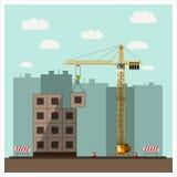 建造场所平的设计 库存例证