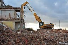 建造场所挖掘机 库存照片