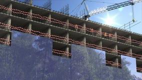 建造场所概念 股票视频