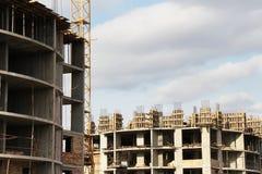 建造场所特写镜头 免版税库存图片