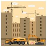 建造场所用设备 向量例证