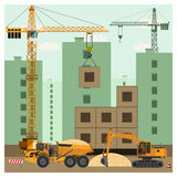 建造场所用设备 皇族释放例证