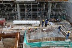 建造场所的工作者在新加坡 库存照片