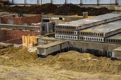 建造场所的看法 库存照片