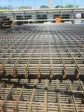 建造场所的钢席子 免版税库存照片