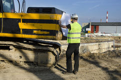 建造场所的建筑师。 免版税库存图片