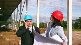 建造场所的建筑师 股票录像