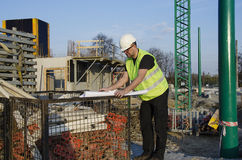 建造场所的建筑师 免版税库存照片