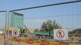 建造场所警告 股票视频