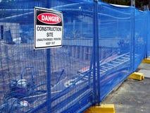 建造场所警报信号 免版税库存照片