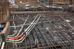 建造场所钢筋 免版税库存照片