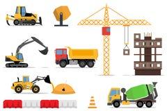 建造场所,建立一个家的传染媒介平的例证 向量例证