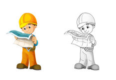 建造场所-与预览的着色页 库存例证