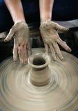 造型黏土花瓶 免版税库存照片