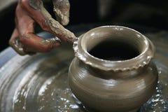 造型黏土花瓶 库存图片