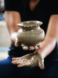 造型黏土花瓶 图库摄影