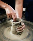 造型黏土花瓶 免版税图库摄影