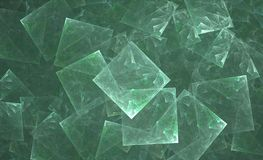 造币厂的重叠的正方形深青色 皇族释放例证