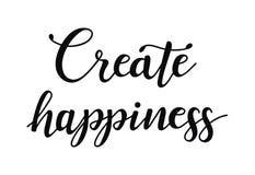 造成幸福 关于愉快的激动人心的行情 现代书法词组 皇族释放例证