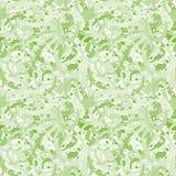 造成美术的使有大理石花纹的影响的摘要绿色透明磨石子地设计 在白色的无缝的传染媒介样式 向量例证