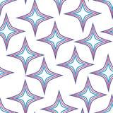 仿造无缝的星形向量 免版税库存图片