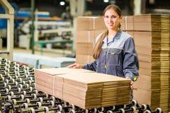 造纸厂工厂劳工 库存照片