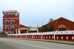 造纸厂1870,多布鲁什,白俄罗斯大厦复合体  免版税库存照片