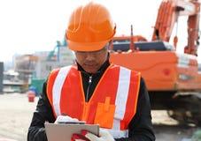 建造者工程师在工作 免版税库存图片