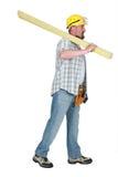 建造者运载的木材 库存照片