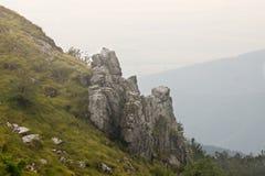 建造者 在希普卡山口的岩石 库存照片