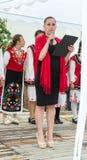建造者 音乐会的开头在Nestenar比赛的在保加利亚人村庄  图库摄影