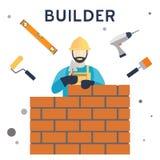 建造者 库存图片