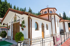 建造者 Cosmas和达米扬教会在圣徒Panteleimon修道院里  库存图片
