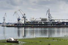 造船区域 图库摄影