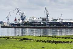 造船区域 库存图片
