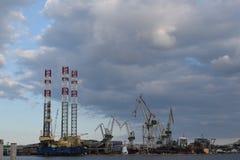 造船厂在克罗地亚 库存照片