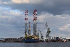 造船厂在克罗地亚 免版税库存图片