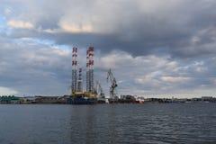 造船厂在克罗地亚 免版税图库摄影