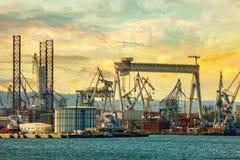造船厂在格丁尼亚 图库摄影